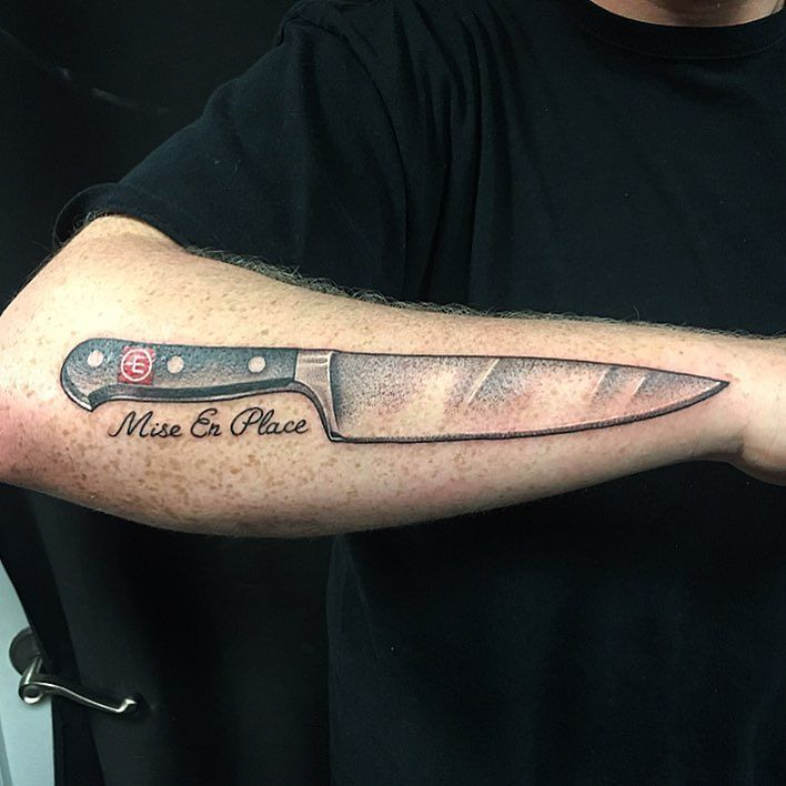 Got To Tattoo This Classic Wusthof Chef Knife On Chris Ideas And Designs