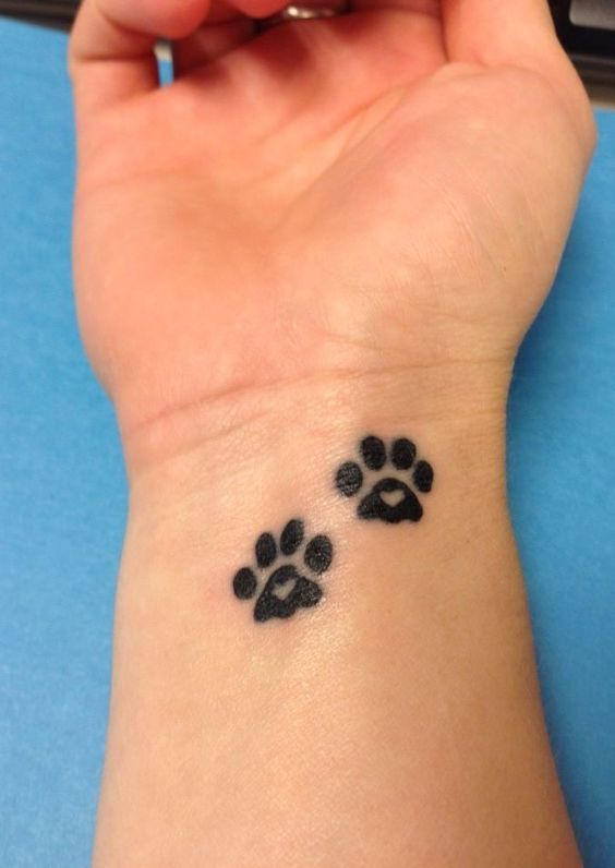 Tattoos Black Dog Paw Prints Dog Paws Print Tattoos Dogs Ideas And Designs