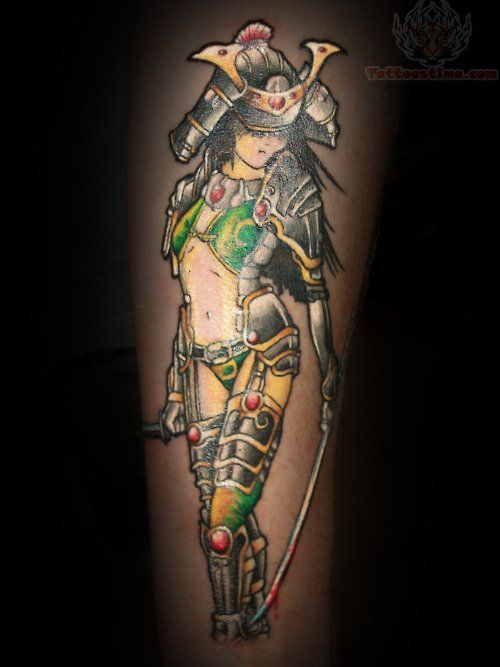 41 Best Anime Girl Samurai Tattoos Designs Images On Ideas And Designs