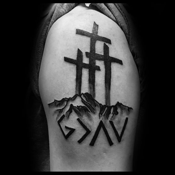50 G*D Is Greater Than The Highs And Lows Tattoo Designs Ideas And Designs