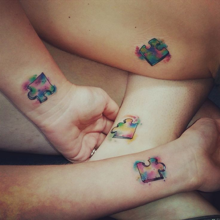 Bff Puzzle Tattoos That Come Together And Make A Square Ideas And Designs