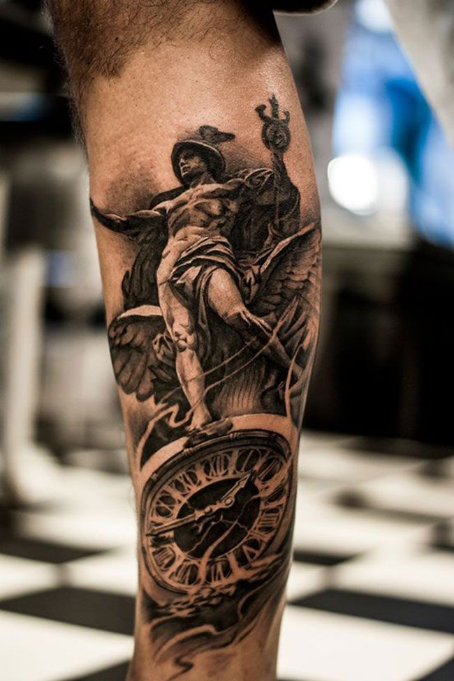 37 Best 3D Leg Tattoos For Men Gallery Images On Pinterest Ideas And Designs