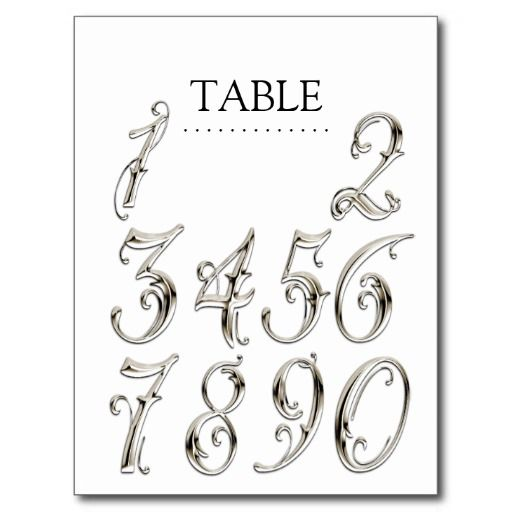 Any Color Table Numbers Fancy Silver Teaching Ideas And Designs