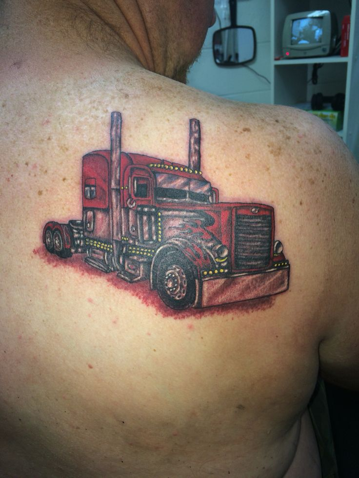 Truck Drivers Delight Tattoo Done By Ricky Garza In Ideas And Designs