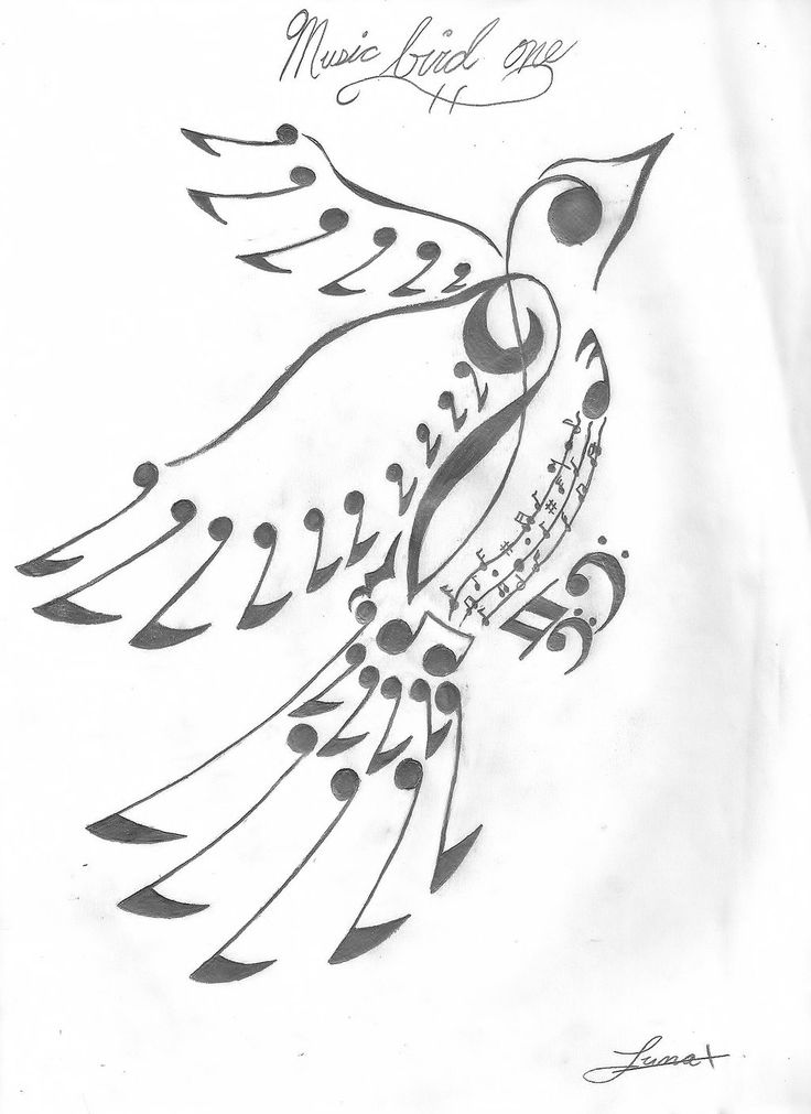 Best 25 Music Bird Tattoos Ideas On Pinterest Music Ideas And Designs