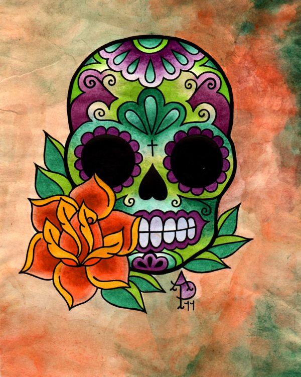 Sugar Skull And Rose Tattoos Tatuering Drawing Painting Ideas And Designs