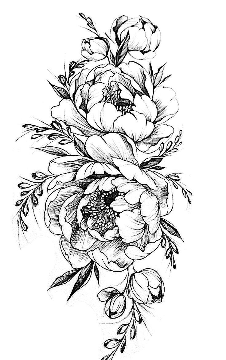 Image Result For Bird Peony Vintage Black White T Ideas And Designs