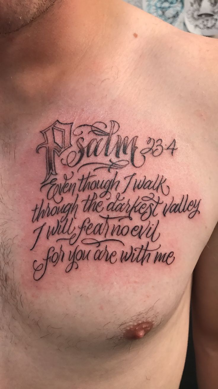 Best 25 Psalm 23 Tattoo Ideas On Pinterest Verse Ideas And Designs