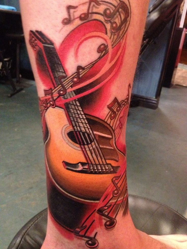 Best 25 Acoustic Guitar Tattoo Ideas Only On Pinterest Ideas And Designs