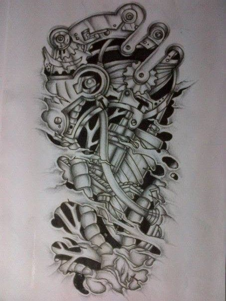 43 Best Biomechanical Skull Tattoo Designs Images On Ideas And Designs