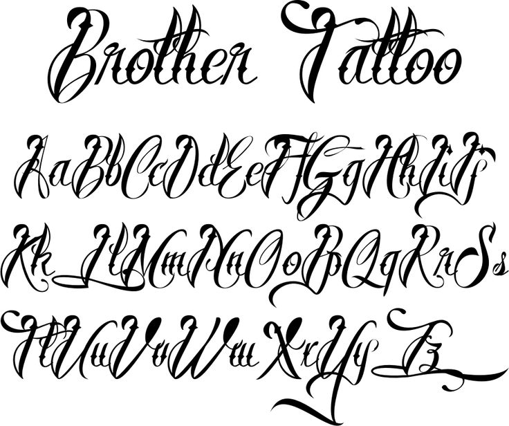 Fonts For Tattoos Brother Tattoofont By Måns Grebäck Ideas And Designs