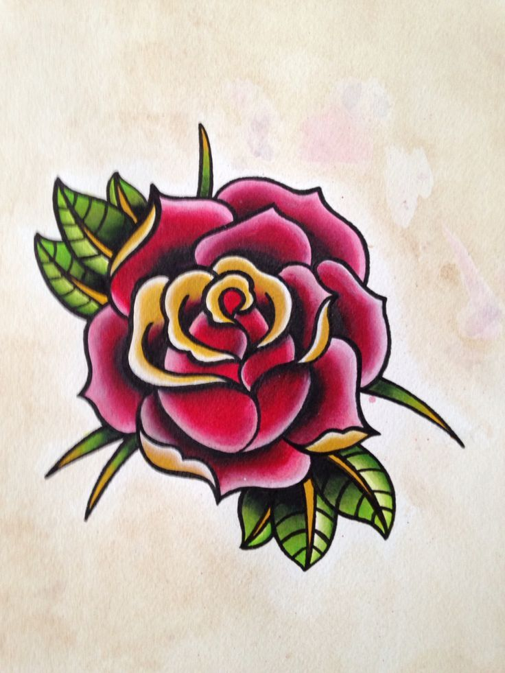 46 Best Traditional Rose Bud Tattoo Images On Pinterest Ideas And Designs