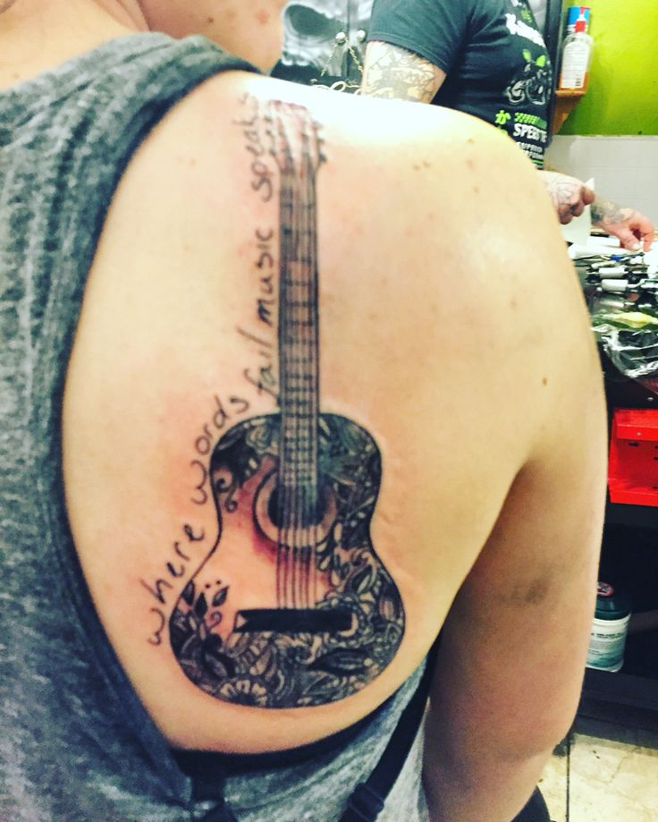 Best 25 Acoustic Guitar Tattoo Ideas On Pinterest Ideas And Designs