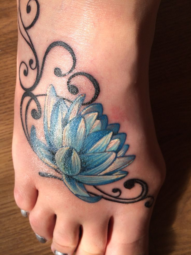 13 Flower Tattoos On Foot Ideas And Designs