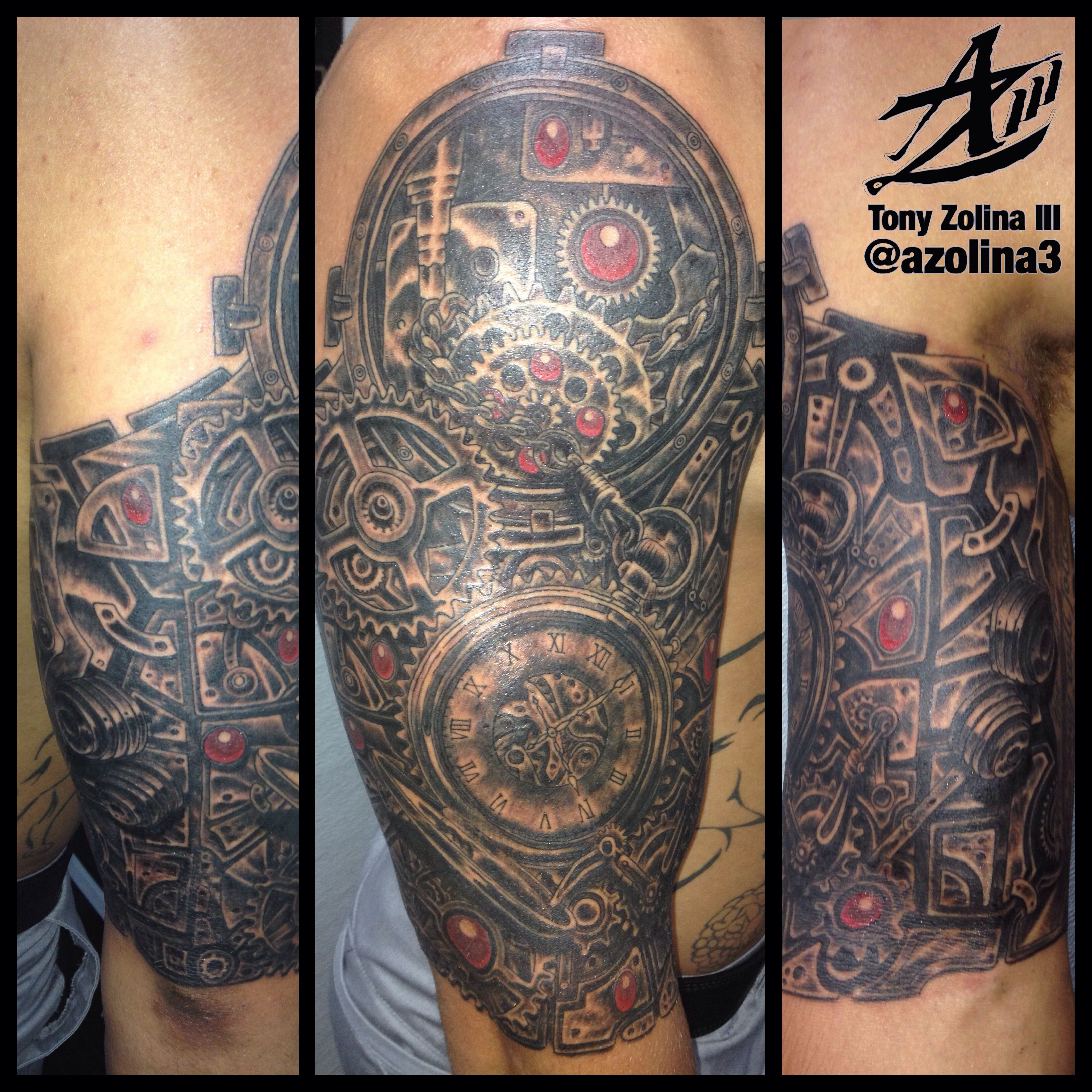 Steampunk Pocket Watch And Gears 1 2 Sleeve Done In One 10 Ideas And Designs