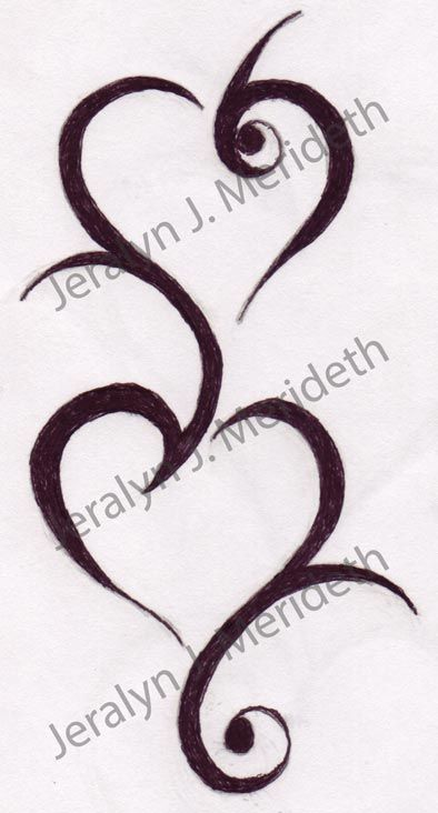 Double Tribal Heart Design 1 Tattoo Designs Pinterest Ideas And Designs