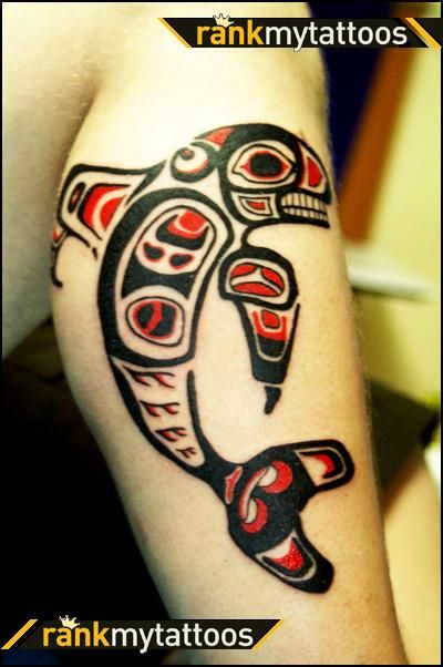 N W Native American Tattoo Of A Whale The Artist Ideas And Designs