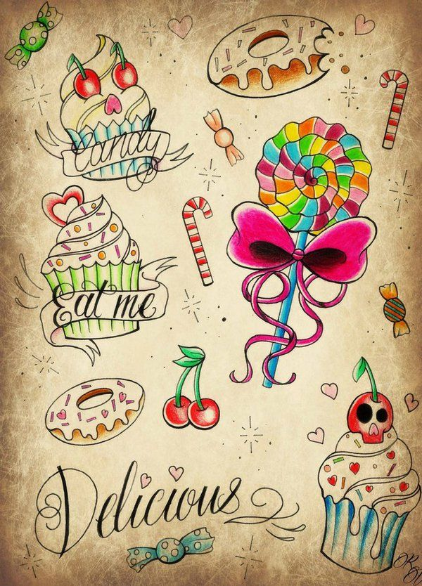 Candy Tattoos Google Search Tattoos Tattoo Designs Ideas And Designs