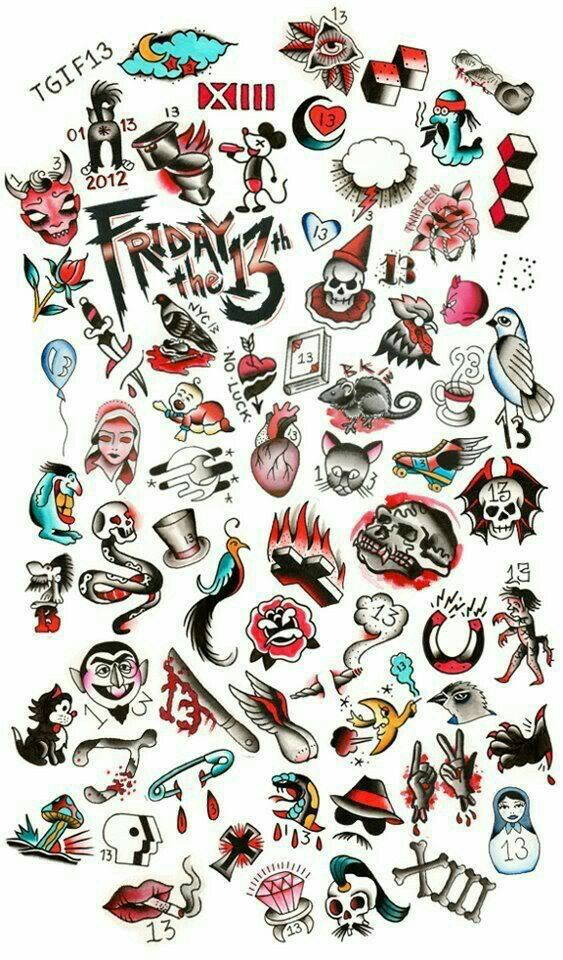 Friday The 13Th Tattoo Tattoozzzzz 13 Tattoos Friday Ideas And Designs