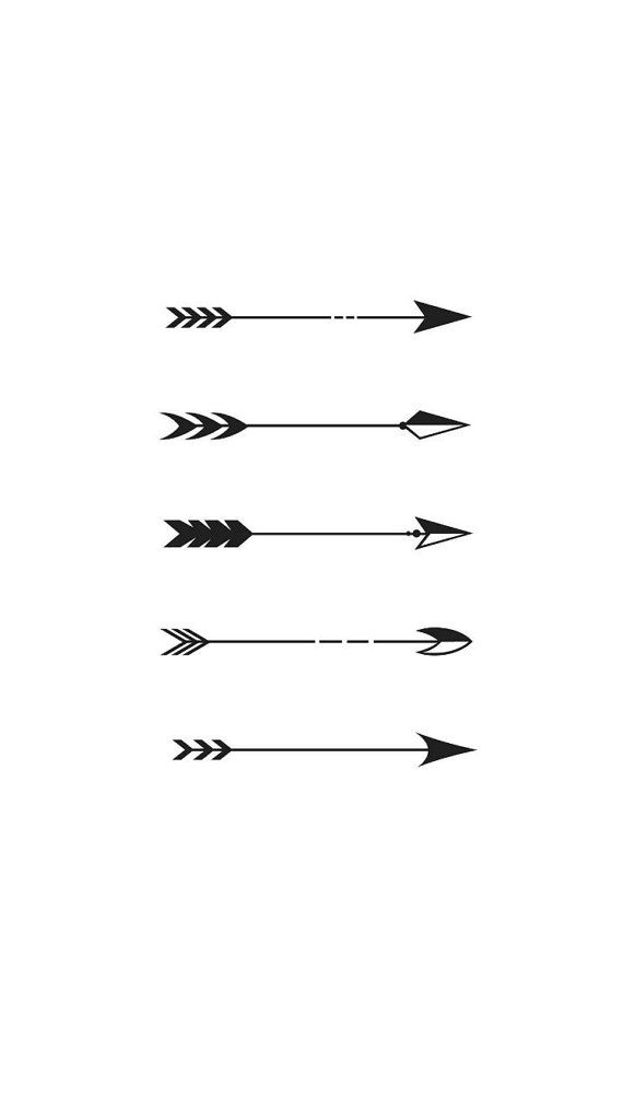 5 Mini Tiny Arrow Temporary Tattoos Various Sizes By Ideas And Designs