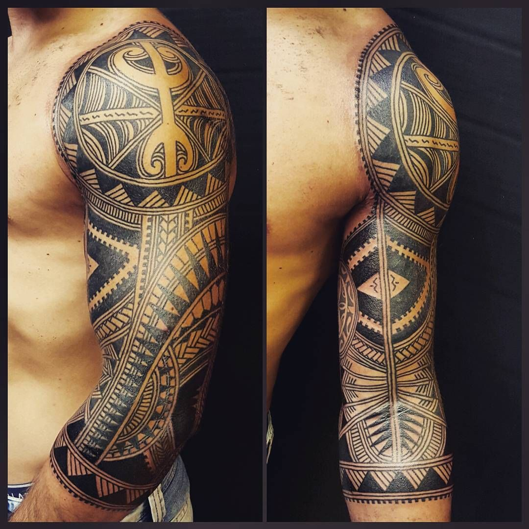 Finished This 3 4 Sleeve Today Contemporary Polynesian Ideas And Designs