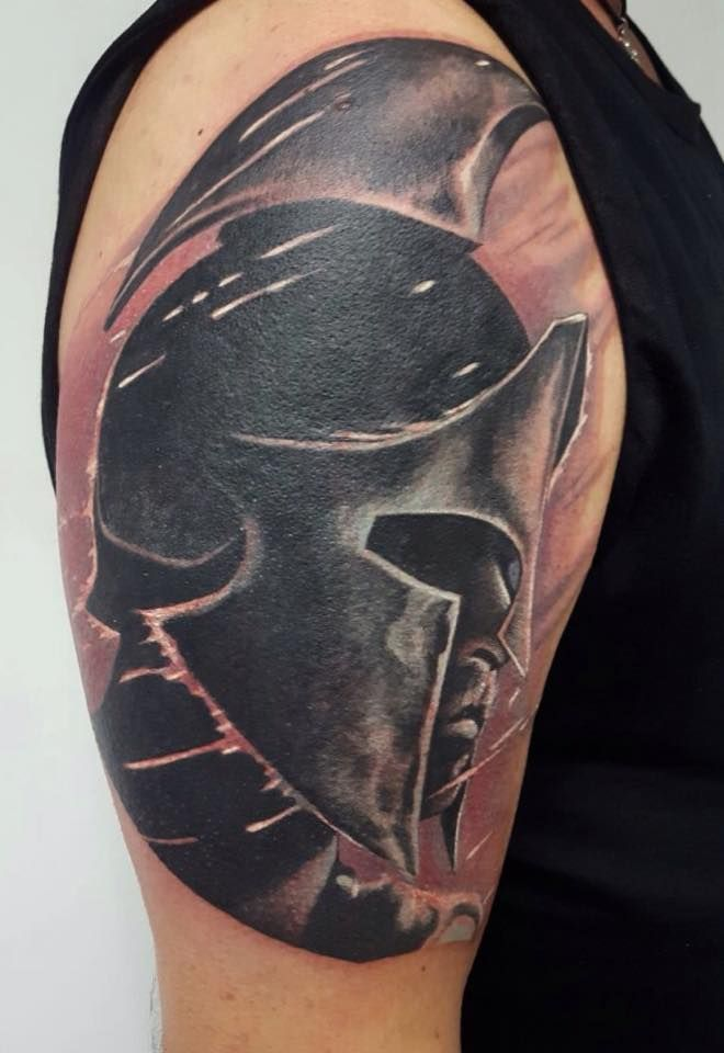 300 Fan Spartan Tattoo By Patrick Realistic Tatoo Ideas And Designs