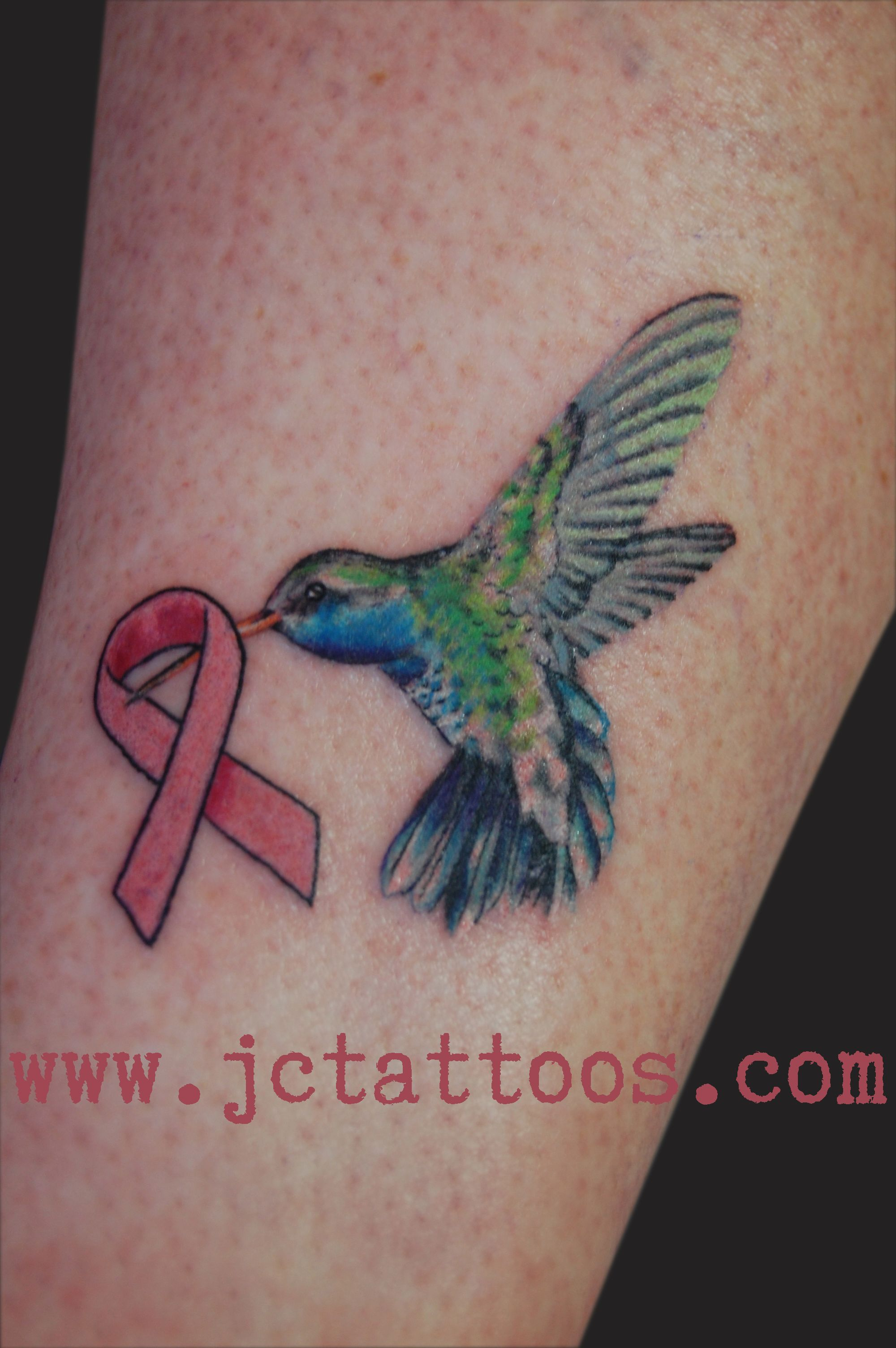 Br**St Cancer Ribbon And Hummingbird Tattoo Love This I Ideas And Designs