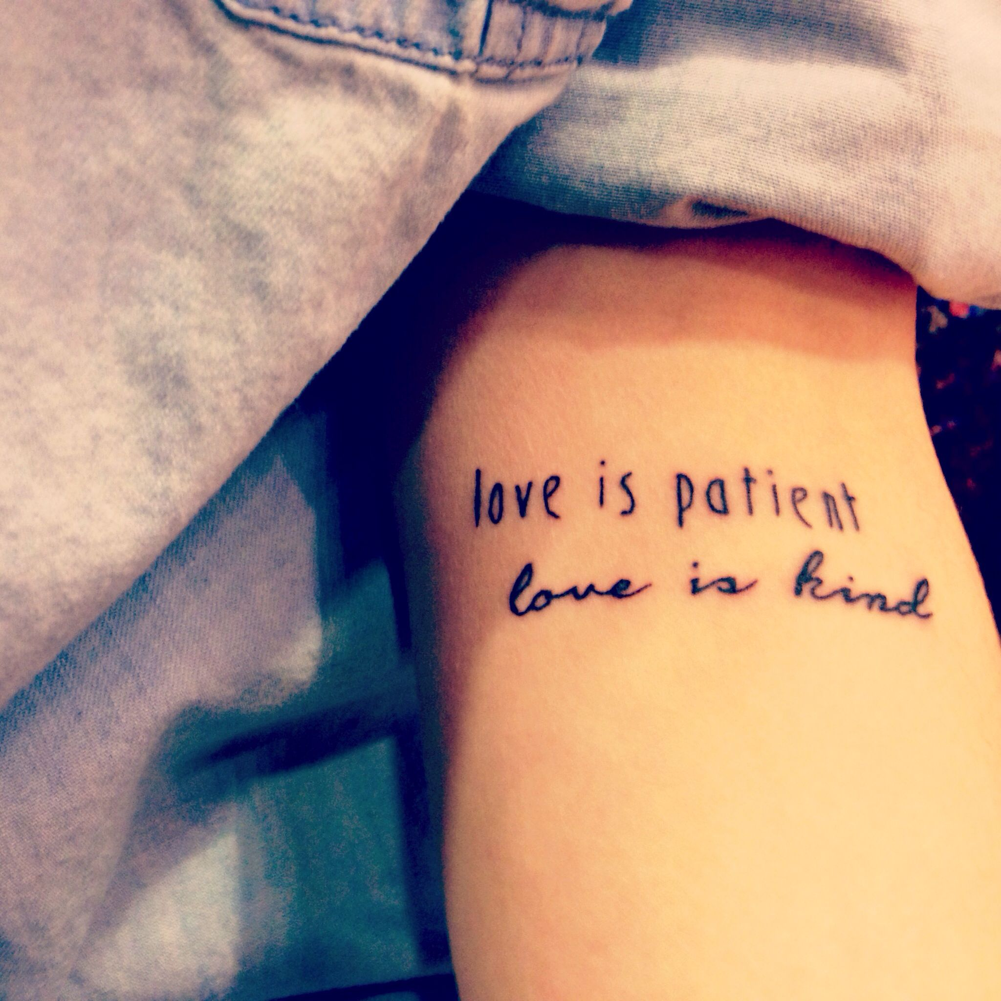 1 Corinthians 13 Tattoo Love Is Patient Love Is Kind Ideas And Designs