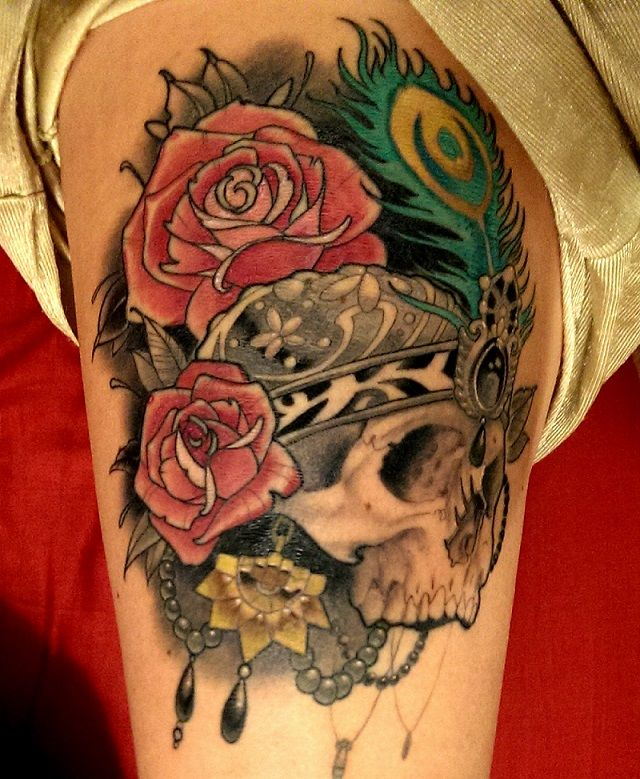 Victorian Skull By The Amazing Jon Lang At 27 Tattoo Ideas And Designs