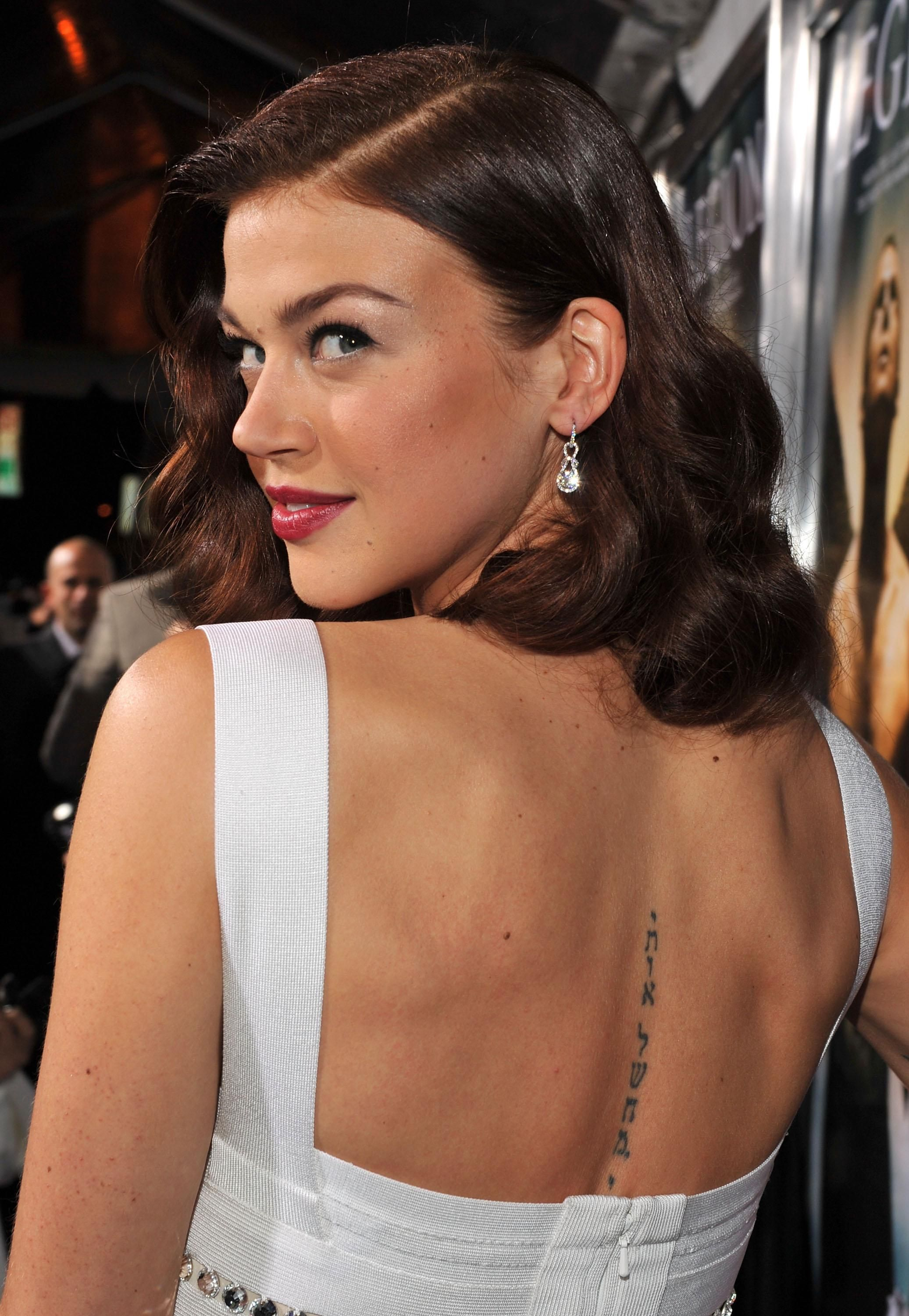 Adrianne Palicki Back Tattoo My Favorite Crushes Ideas And Designs