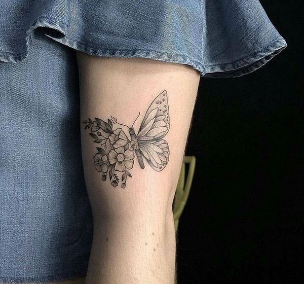 Butterfly On Flowers Tattoo Design 2018 2019 For Women Ideas And Designs