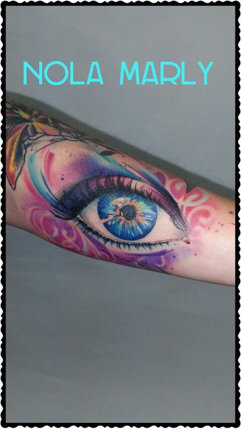Realistic Watercolor Eye Tattoo Tattoos Watercolor Ideas And Designs