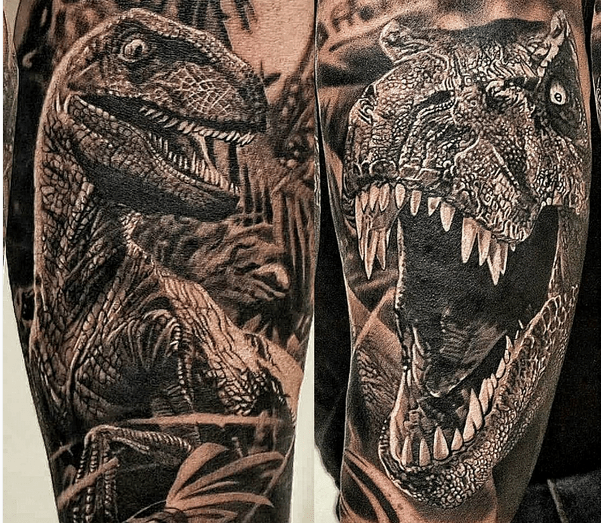Tuesday Exclusive 20 Of The Coolest Velociraptor Tattoos Ideas And Designs