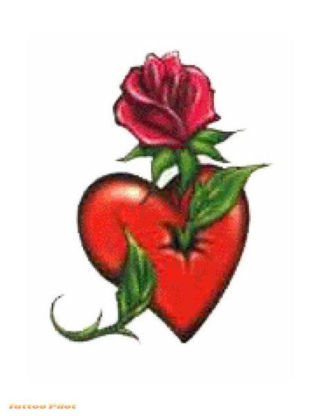 Heart With Rose Tattoos Heart Tattoo Designs Tattoo Ideas And Designs