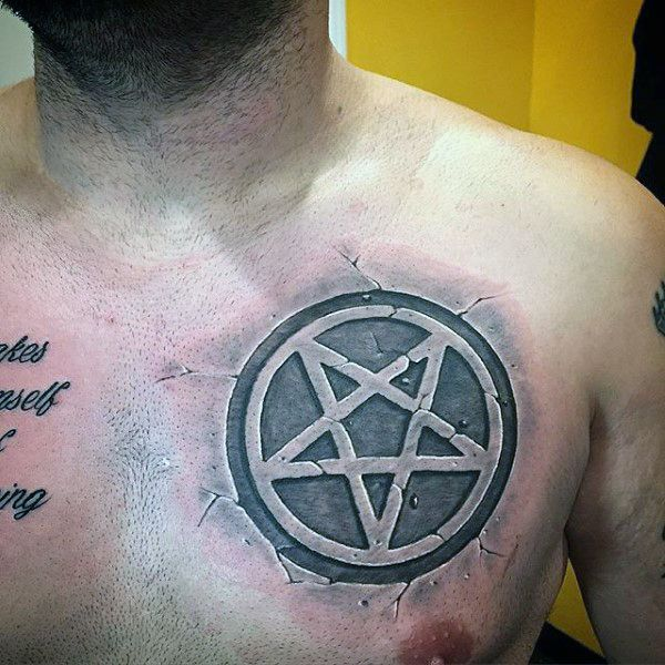 50 Pentagram Tattoo Designs For Men Five Pointed Star Ideas And Designs