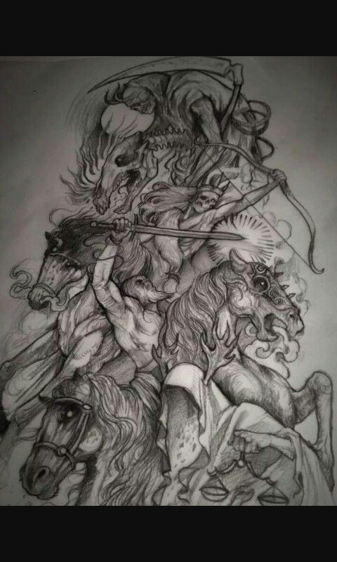 Four Horseman Oddities And The Macabre Apocalypse Ideas And Designs