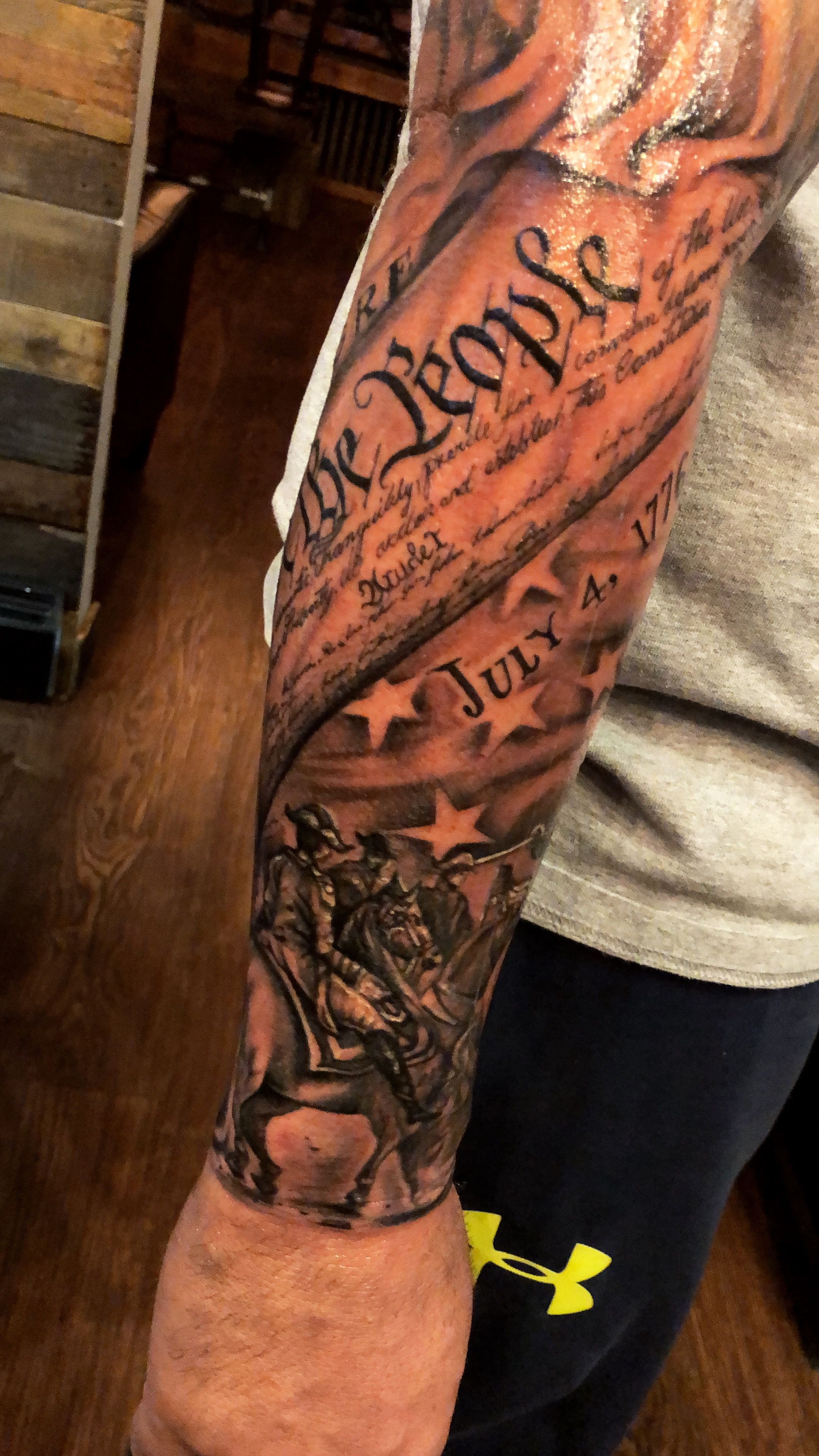 "Latest Tattoo July 4Th 1776 ""We The People"" Tattoo Ideas And Designs"