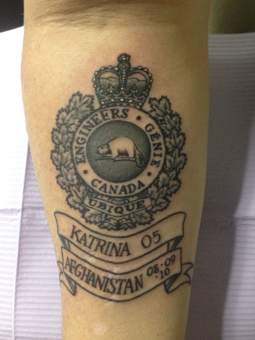 My Canadian Military Engineer Tattoo Tattoo Military Ideas And Designs