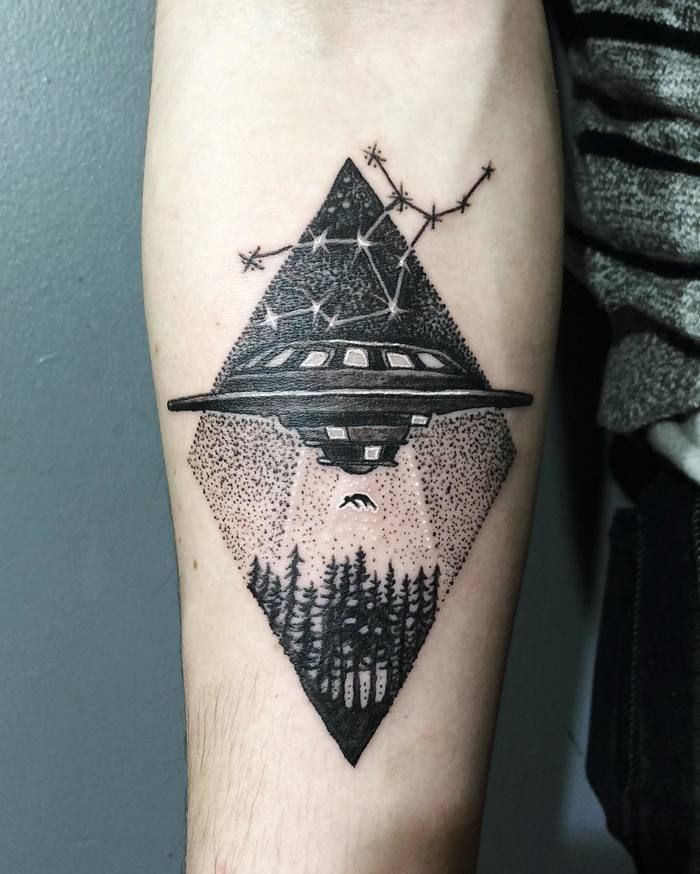 40 Extraordinary Ufo Tattoo Designs For Alien Enthusiasts Ideas And Designs