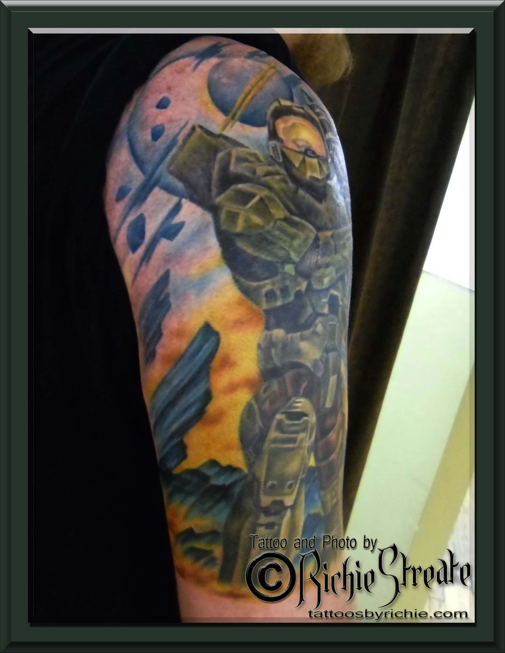 Halo 3 Master Chief Tattoo Tattoo S By Richie Streate Ideas And Designs