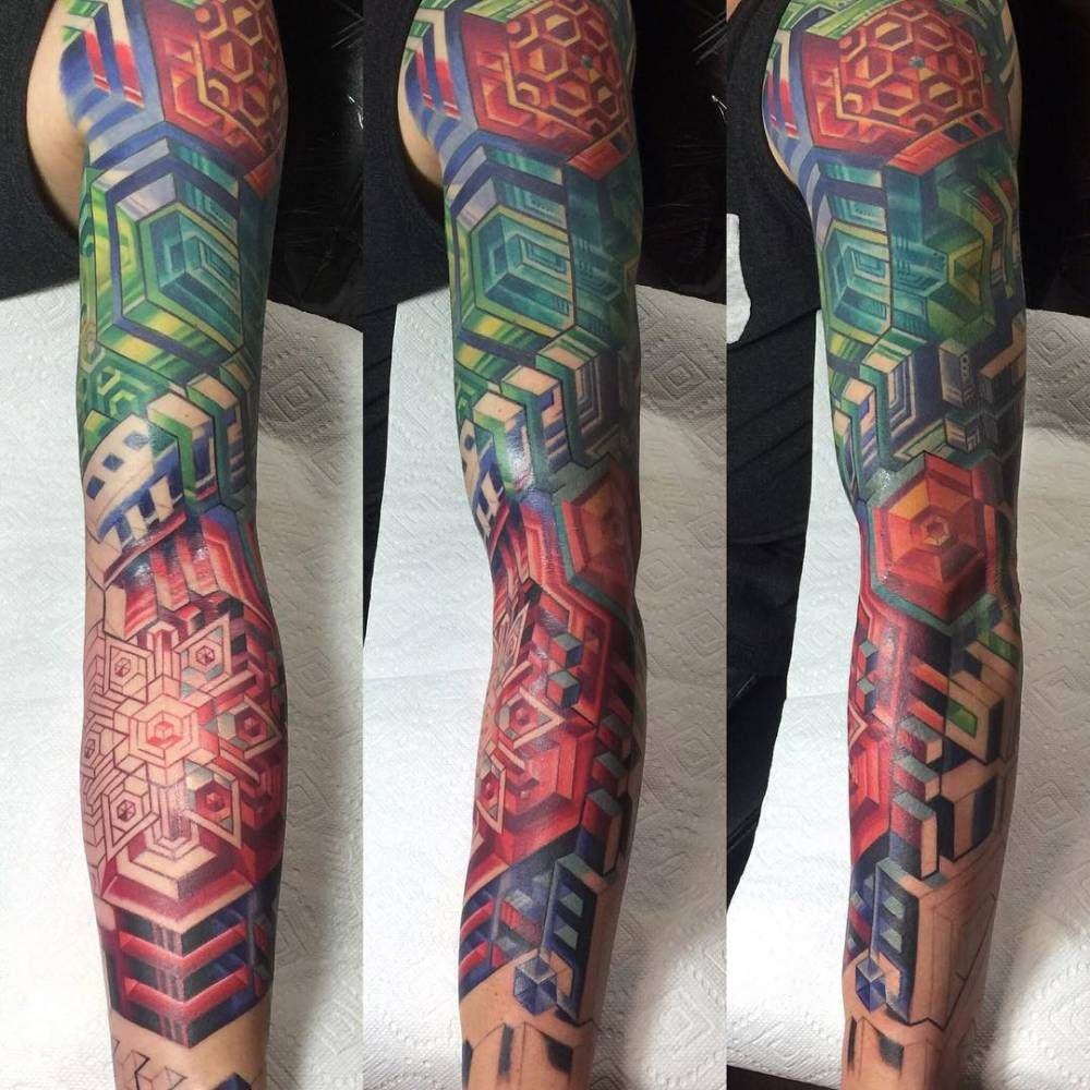 Abstract Geometric Sleeve Sleeve Tattoos Tattoo Ideas And Designs