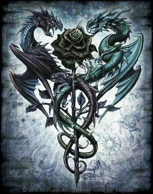 Intertwined Dragons Dragons Tattoos Dragon Tattoo Ideas And Designs