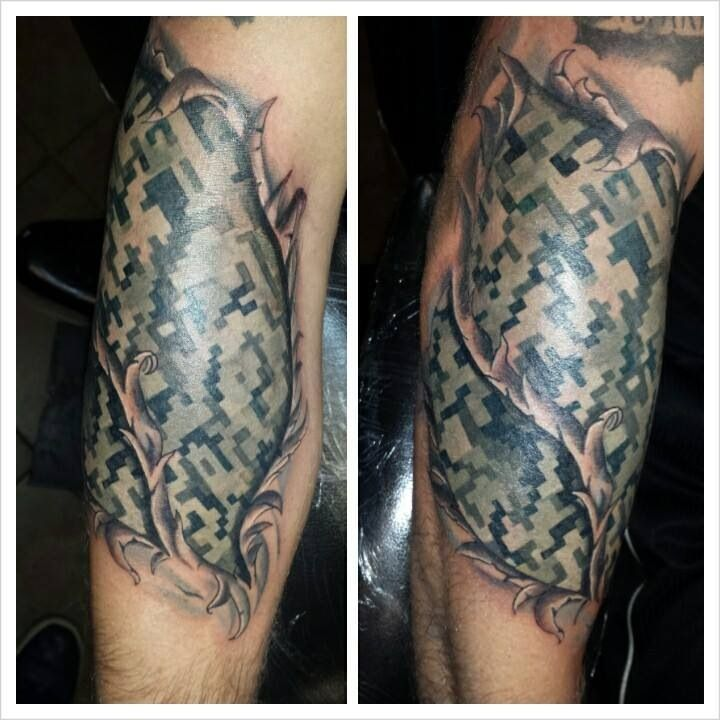 Army Camo Tattoo Google Search Military Love Tattoos Ideas And Designs