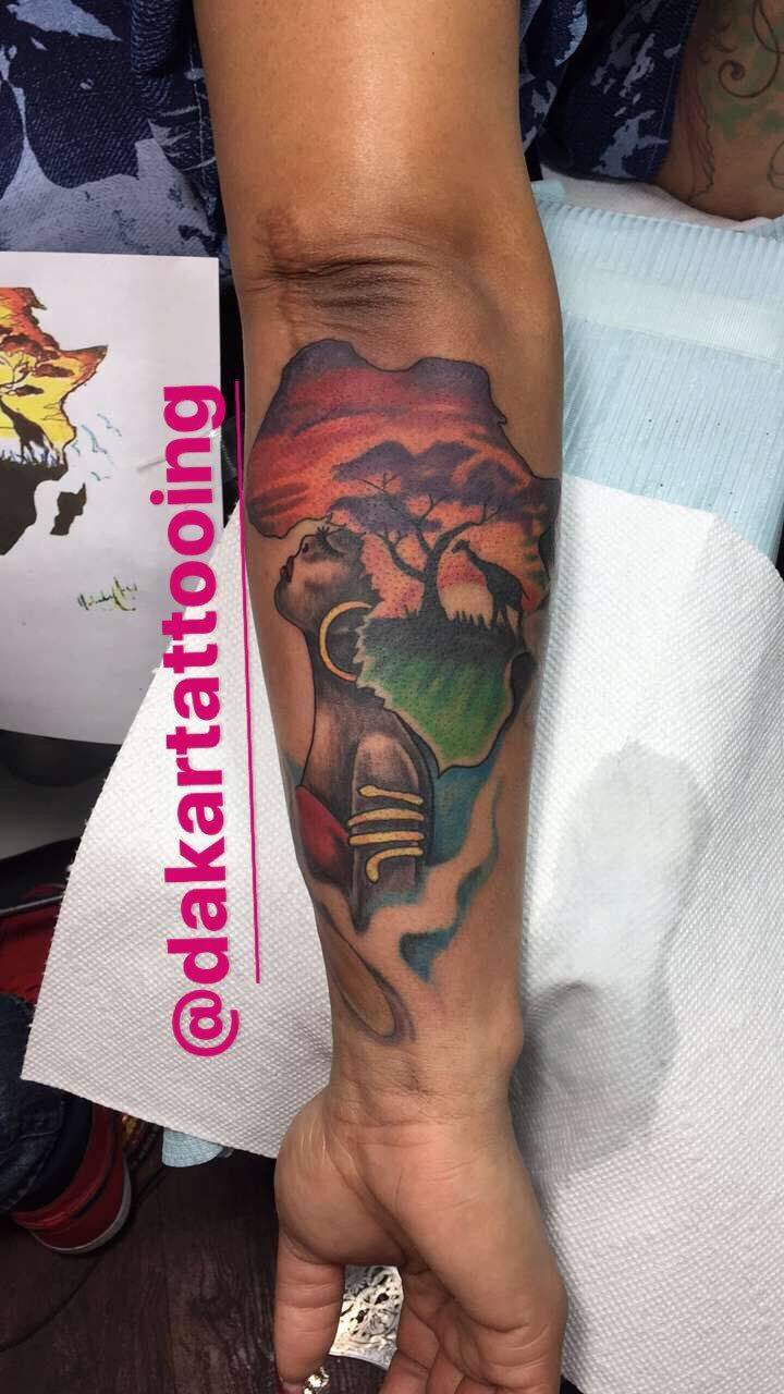 Africa Tattoo Twitter Search Tatted Pierced Africa Ideas And Designs