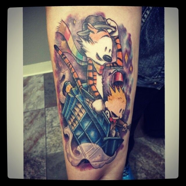 This Is My Doctor Who Calvin Hobbes Tattoo Done By Big Ideas And Designs