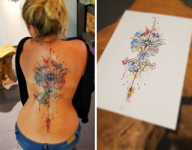 40 Delicate Spine Tattoos Art All The Rage Tattoo Tattoos Spine Tattoos Und Body Art Tattoos Ideas And Designs