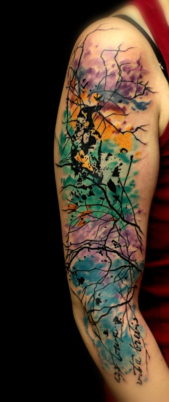 Cleanfun Abstract Tattoo Watercolor Abstract Ideas And Designs