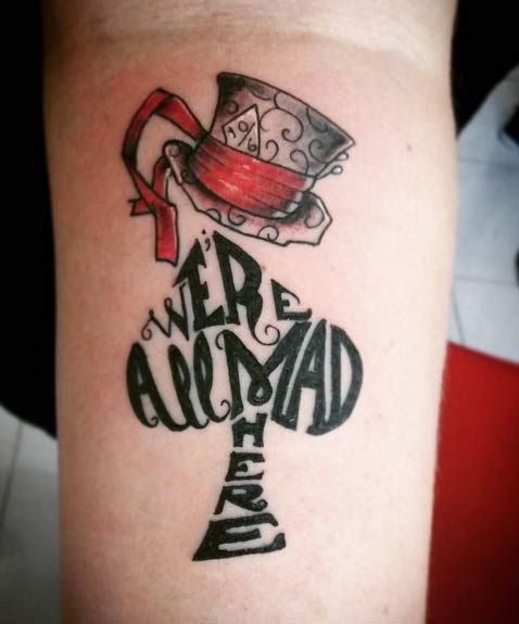 100 Best Alice In Wonderland Tattoos Tats And Sh*T Ideas And Designs
