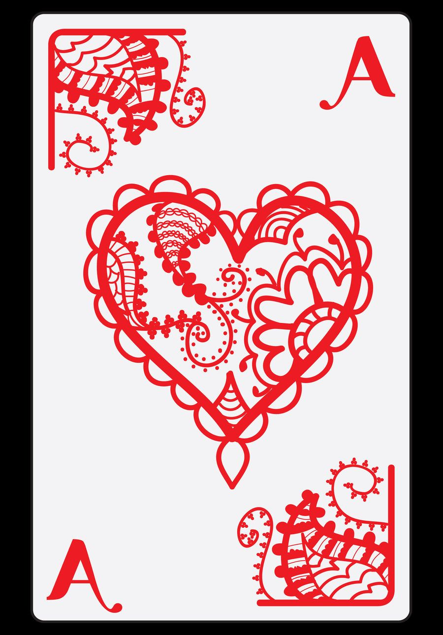 Pin By Rebecca Riley On Shuffle And Deal Ace Of Hearts Ideas And Designs