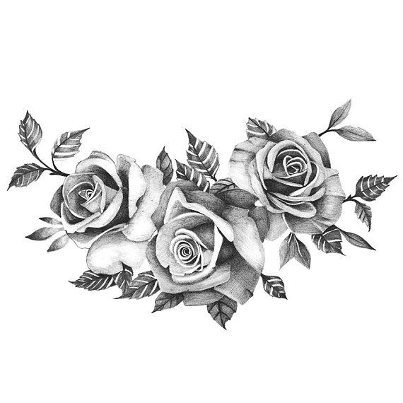 Three Beautiful Roses Temporary Tattoo Realistic Roses Ideas And Designs